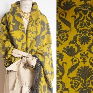 THICK WARM SCARF SHAWL STOLE WRAP MUSTERED YELLOW